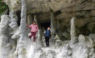 forêt de stalagmites dans les gorges d'anisclo
