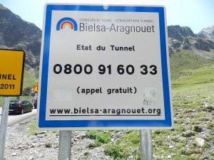 Renseignements téléphoniques sur l'ouverture du tunnel d'Aragnouet Bielsa