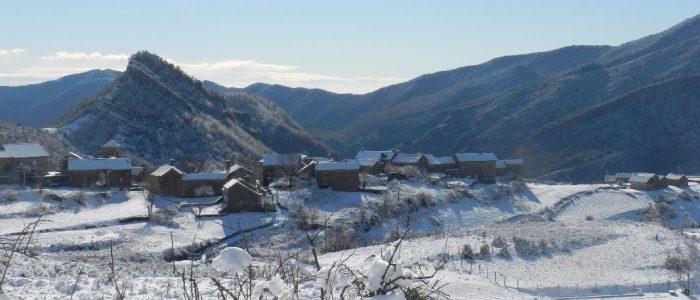 Buerba sous la neige