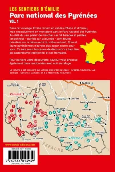 Sentier d'Emilie dans le Parc National des Pyrenees vol 1 carte