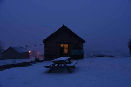 Ma bergerie sous la neige