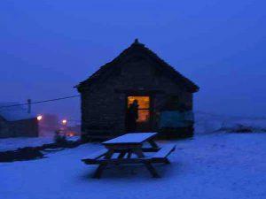 Ma bergerie en Aragon sous la neige