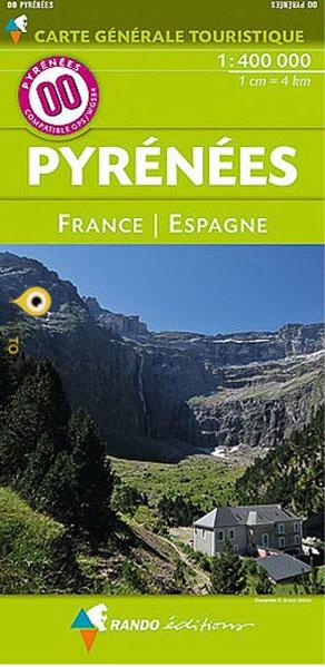 Carte de randonnées Pyrénées France/Espagne-Rando Éditions